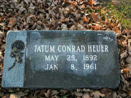 HEUER, TATUM CONRAD - Boone County, Arkansas | TATUM CONRAD HEUER - Arkansas Gravestone Photos