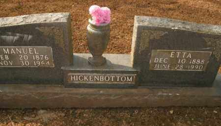 HICKENBOTTOM, MANUEL - Boone County, Arkansas   MANUEL HICKENBOTTOM - Arkansas Gravestone Photos