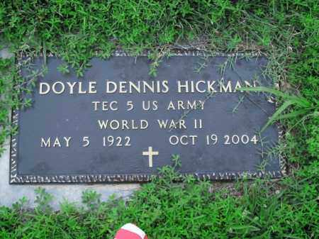 HICKMAN  (VETERAN WWII), DOYLE DENNIS - Boone County, Arkansas   DOYLE DENNIS HICKMAN  (VETERAN WWII) - Arkansas Gravestone Photos