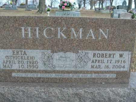 STRICKLEN HICKMAN, ERTA - Boone County, Arkansas | ERTA STRICKLEN HICKMAN - Arkansas Gravestone Photos