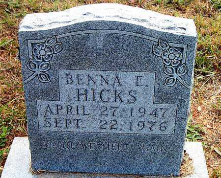 HICKS, BENNA E. - Boone County, Arkansas | BENNA E. HICKS - Arkansas Gravestone Photos