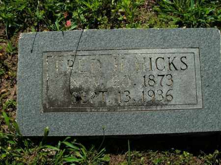 HICKS, FRED H. - Boone County, Arkansas   FRED H. HICKS - Arkansas Gravestone Photos