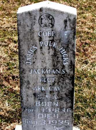 HICKS  (VETERAN CSA), JAMES POLK - Boone County, Arkansas   JAMES POLK HICKS  (VETERAN CSA) - Arkansas Gravestone Photos
