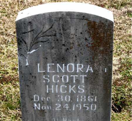 SCOTT HICKS, LENORA - Boone County, Arkansas   LENORA SCOTT HICKS - Arkansas Gravestone Photos