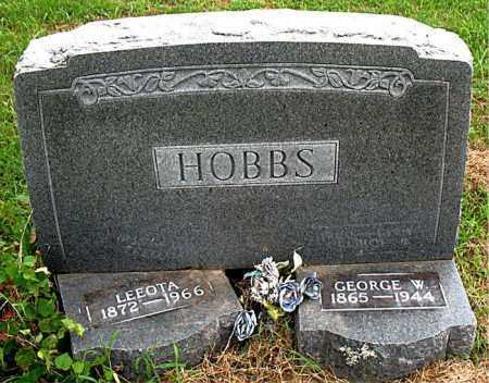 HOBBS, GEORGE W. - Boone County, Arkansas | GEORGE W. HOBBS - Arkansas Gravestone Photos