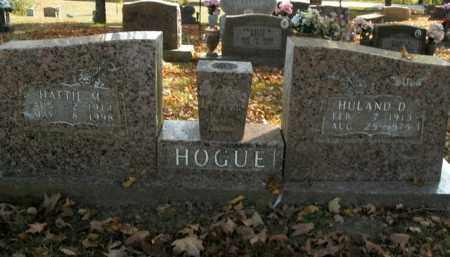 HOGUE, HULAND D. - Boone County, Arkansas | HULAND D. HOGUE - Arkansas Gravestone Photos