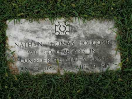 HOLCOMB  (VETERAN CSA), NATHAN THOMAS - Boone County, Arkansas   NATHAN THOMAS HOLCOMB  (VETERAN CSA) - Arkansas Gravestone Photos