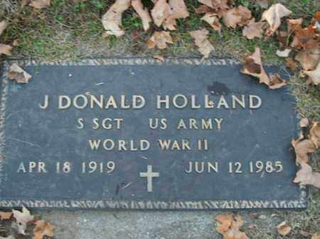 HOLLAND  (VETERAN WWII), J. DONALD - Boone County, Arkansas | J. DONALD HOLLAND  (VETERAN WWII) - Arkansas Gravestone Photos
