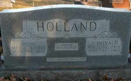 HOLLAND, J. DONALD - Boone County, Arkansas   J. DONALD HOLLAND - Arkansas Gravestone Photos