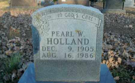 HOLLAND, PEARL W. - Boone County, Arkansas | PEARL W. HOLLAND - Arkansas Gravestone Photos