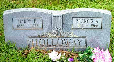 HOLLOWAY, FRANCIS  A. - Boone County, Arkansas | FRANCIS  A. HOLLOWAY - Arkansas Gravestone Photos