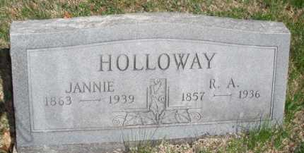 HOLLOWAY, JANNIE - Boone County, Arkansas | JANNIE HOLLOWAY - Arkansas Gravestone Photos