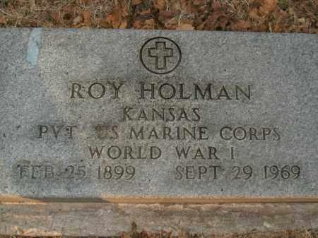 HOLMAN  (VETERAN WWI), ROY - Boone County, Arkansas   ROY HOLMAN  (VETERAN WWI) - Arkansas Gravestone Photos