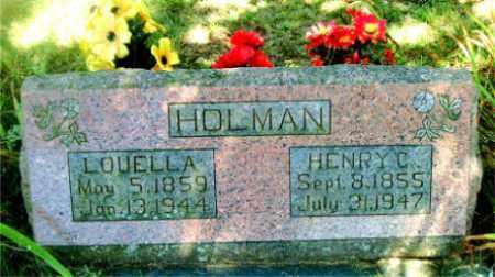 HOLMAN, LOUELLA - Boone County, Arkansas | LOUELLA HOLMAN - Arkansas Gravestone Photos