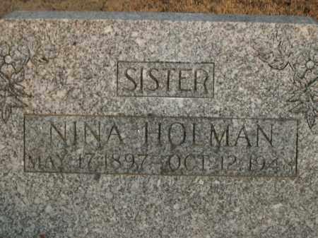HOLMAN, NINA - Boone County, Arkansas   NINA HOLMAN - Arkansas Gravestone Photos