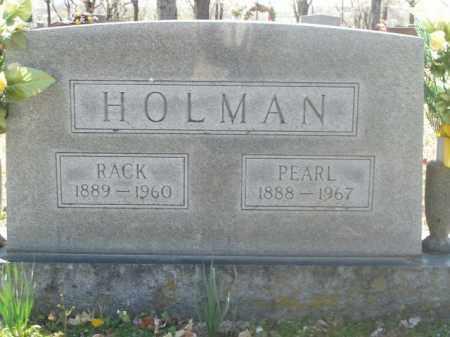 HOLMAN, RACK - Boone County, Arkansas | RACK HOLMAN - Arkansas Gravestone Photos