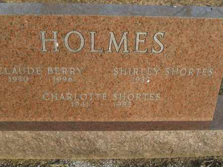 HOLMES, CLAUDE BERRY - Boone County, Arkansas | CLAUDE BERRY HOLMES - Arkansas Gravestone Photos
