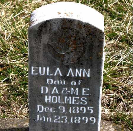 HOLMES, EULA ANN - Boone County, Arkansas   EULA ANN HOLMES - Arkansas Gravestone Photos