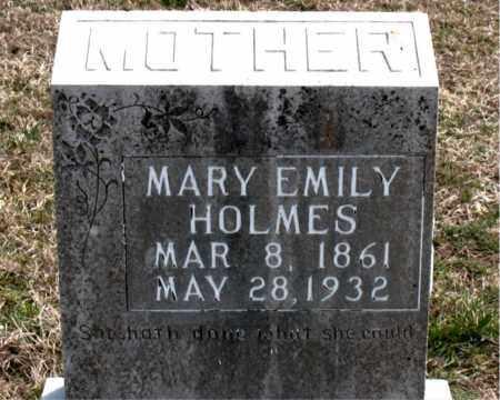 HOLMES, MARY EMILY - Boone County, Arkansas | MARY EMILY HOLMES - Arkansas Gravestone Photos