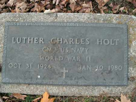 HOLT  (VETERAN WWII), LUTHER CHARLES - Boone County, Arkansas | LUTHER CHARLES HOLT  (VETERAN WWII) - Arkansas Gravestone Photos