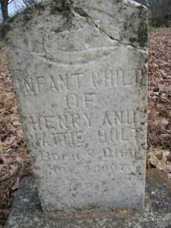 HOLT, INFANT - Boone County, Arkansas | INFANT HOLT - Arkansas Gravestone Photos