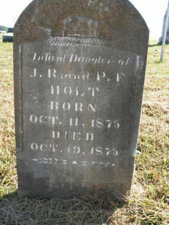 HOLT, INFANT DAUGHTER - Boone County, Arkansas | INFANT DAUGHTER HOLT - Arkansas Gravestone Photos