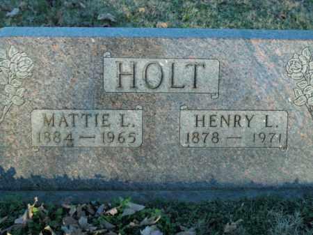 HOLT, MATTIE L. - Boone County, Arkansas | MATTIE L. HOLT - Arkansas Gravestone Photos
