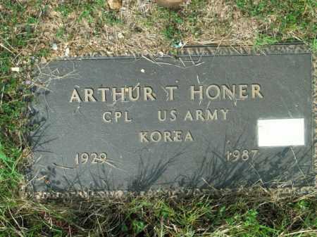 HONER  (VETERAN KOR), ARTHUR T - Boone County, Arkansas | ARTHUR T HONER  (VETERAN KOR) - Arkansas Gravestone Photos