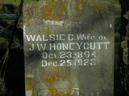 HONEYCUTT, WALSIE C. - Boone County, Arkansas   WALSIE C. HONEYCUTT - Arkansas Gravestone Photos