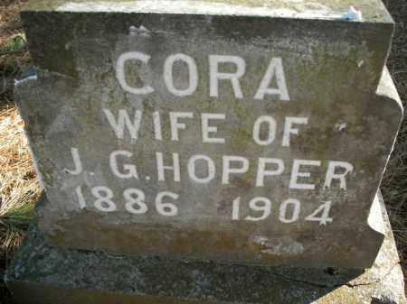 JOHNSON HOPPER, CORA - Boone County, Arkansas   CORA JOHNSON HOPPER - Arkansas Gravestone Photos