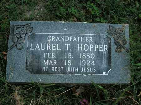 HOPPER, LAUREL T. - Boone County, Arkansas   LAUREL T. HOPPER - Arkansas Gravestone Photos