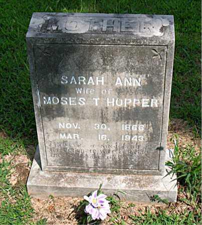 HOPPER, SARAH ANN - Boone County, Arkansas | SARAH ANN HOPPER - Arkansas Gravestone Photos