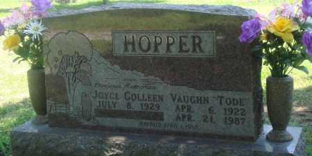 "HOPPER, VAUGHN ""TODE"" - Boone County, Arkansas | VAUGHN ""TODE"" HOPPER - Arkansas Gravestone Photos"