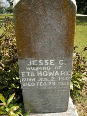 HOWARD, JESSE C. - Boone County, Arkansas | JESSE C. HOWARD - Arkansas Gravestone Photos