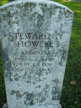 HOWELL  (VETERAN), STEWARD N. - Boone County, Arkansas   STEWARD N. HOWELL  (VETERAN) - Arkansas Gravestone Photos