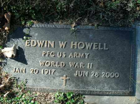 HOWELL  (VETERAN WWII), EDWIN W - Boone County, Arkansas | EDWIN W HOWELL  (VETERAN WWII) - Arkansas Gravestone Photos