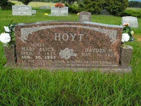 JONES HOYT, MARY ALICE - Boone County, Arkansas | MARY ALICE JONES HOYT - Arkansas Gravestone Photos