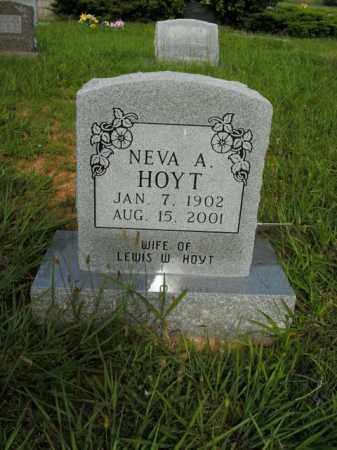 HOYT, NEVA A. - Boone County, Arkansas | NEVA A. HOYT - Arkansas Gravestone Photos