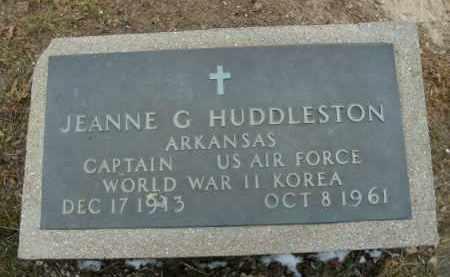 HUDDLESTON  (VETERAN 2 WARS), JEANNE G - Boone County, Arkansas | JEANNE G HUDDLESTON  (VETERAN 2 WARS) - Arkansas Gravestone Photos
