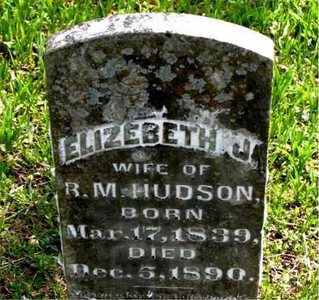 HUDSON, ELIZABETH J. - Boone County, Arkansas   ELIZABETH J. HUDSON - Arkansas Gravestone Photos