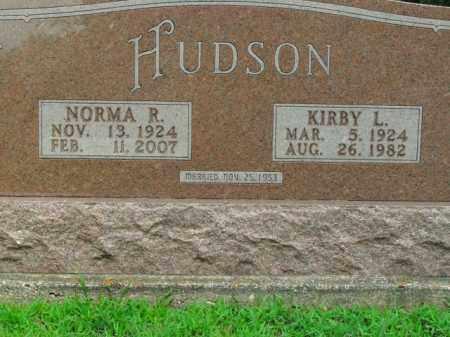 HUDSON, KIRBY L. - Boone County, Arkansas   KIRBY L. HUDSON - Arkansas Gravestone Photos