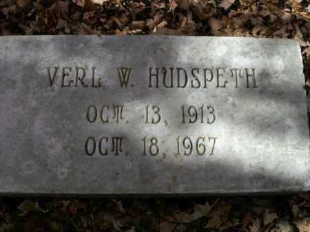 HUDSPETH, VERL W. - Boone County, Arkansas   VERL W. HUDSPETH - Arkansas Gravestone Photos