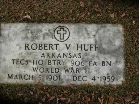 HUFF  (VETERAN WWII), ROBERT V - Boone County, Arkansas | ROBERT V HUFF  (VETERAN WWII) - Arkansas Gravestone Photos