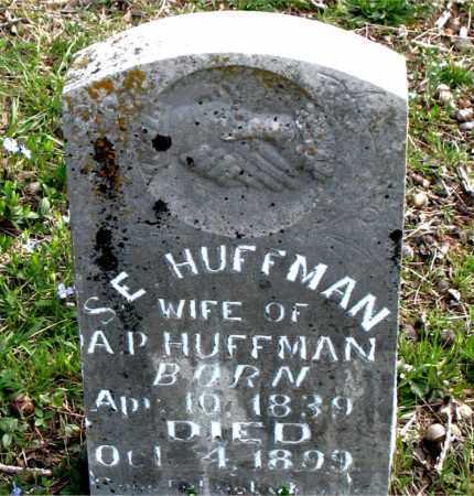 HUFFMAN, S.  E. - Boone County, Arkansas | S.  E. HUFFMAN - Arkansas Gravestone Photos