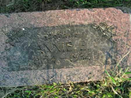 HUGHES, ANNIE E. - Boone County, Arkansas   ANNIE E. HUGHES - Arkansas Gravestone Photos