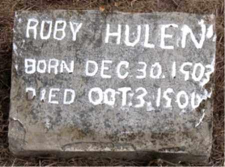 HULEN, ROBY - Boone County, Arkansas   ROBY HULEN - Arkansas Gravestone Photos