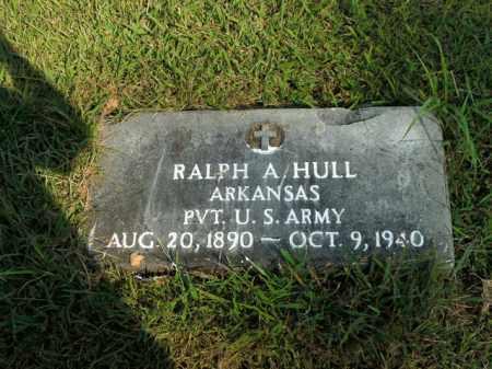 HULL  (VETERAN), RALPH A - Boone County, Arkansas | RALPH A HULL  (VETERAN) - Arkansas Gravestone Photos