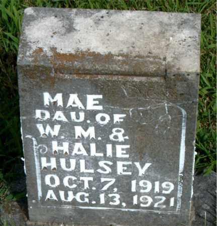 HULSEY, MAE - Boone County, Arkansas | MAE HULSEY - Arkansas Gravestone Photos