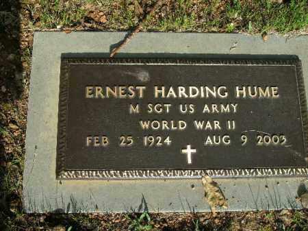 HUME  (VETERAN WWII), ERNEST HARDING - Boone County, Arkansas   ERNEST HARDING HUME  (VETERAN WWII) - Arkansas Gravestone Photos