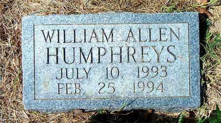HUMPHREYS, WILLIAM ALLEN - Boone County, Arkansas | WILLIAM ALLEN HUMPHREYS - Arkansas Gravestone Photos